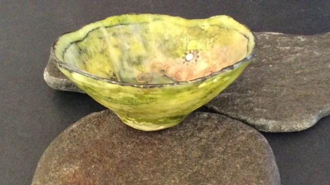 Encaustic bowl by Annie Desantis