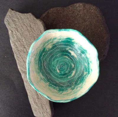Encaustic bowl by Annie Desantis
