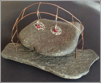 Fine Silver (PMC) Earrings by Annie Desantis