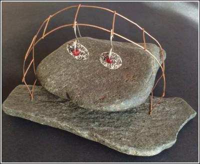 Fine Silver (PMC) Earrings by Annie Desantis