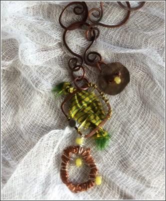 Neckpiece closeup by Annie Desantis