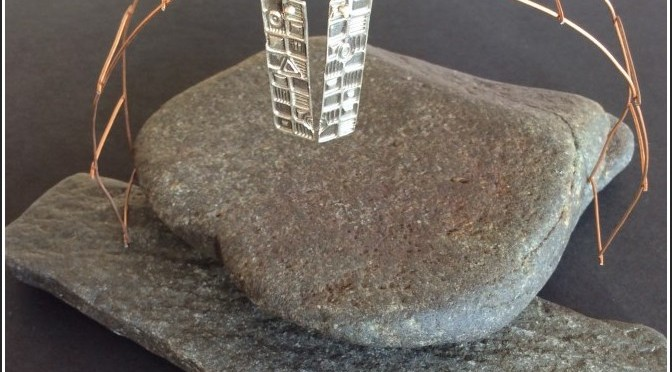 Geometric Pure Silver Earrings